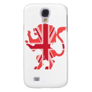 Red Union Jack Lion Galaxy S4 Case