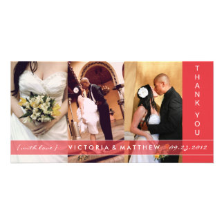 RED UNION | WEDDING THANK YOU CARD PHOTO GREETING CARD