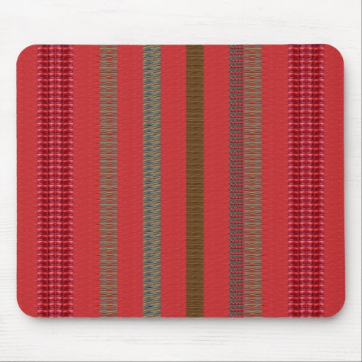 RED Unique n Elegant Stripes GIFTS lowprice store Mouse Pad