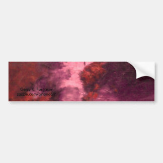 """""""RED UNIVERSE ABSTRACT"""" BUMPER STICKER"""