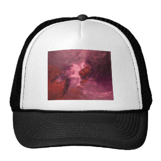 RED UNIVERSE ABSTRACT HAT