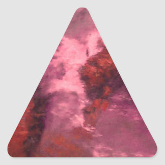 """""""RED UNIVERSE ABSTRACT"""" TRIANGLE STICKERS"""
