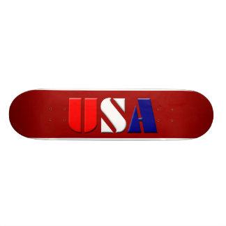 Red USA Skateboard
