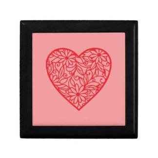 Red Valentine's Heart Gift Box