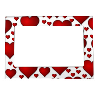 Red valentines heart magnetic picture frame