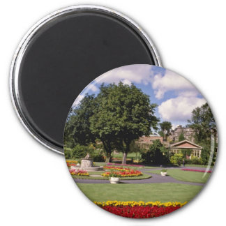 Red Valley Gardens, Harrogate, North Yorkshire, En 6 Cm Round Magnet