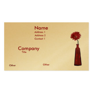 Red Vase and Flower Pack Of Standard Business Cards