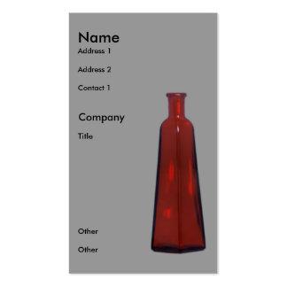 Red Vase Business Card