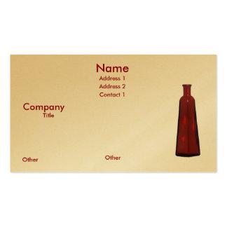 Red Vase Pack Of Standard Business Cards