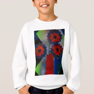 Red vase with flowers sweatshirt