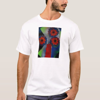 Red vase with flowers T-Shirt