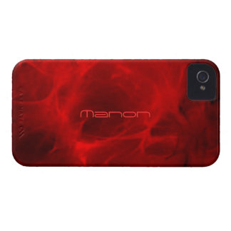 Red Veined iPhone 4 cover for Manon