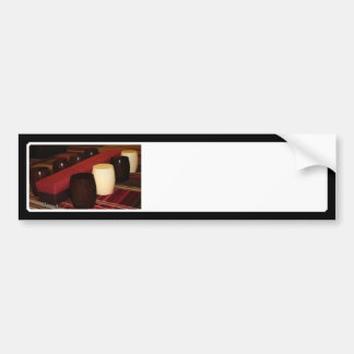 Red Velvet Bench Seating Arrangement Bumper Stickers