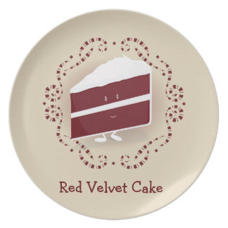 Red Velvet Cake | Melamine Plate