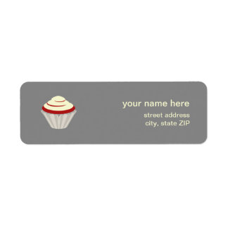 Red Velvet Cupcake Address Label