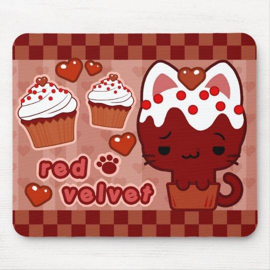 Red Velvet Cupcake Kitty Mousepad