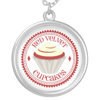 Red Velvet Cupcake Necklace