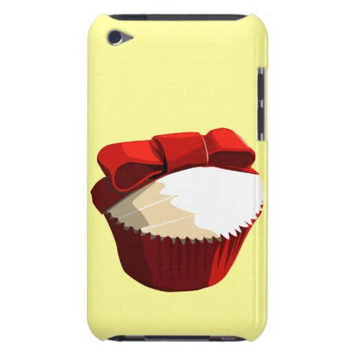 Red velvet cupcake with bow iPod Touch case