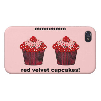 red velvet cupcakes covers for iPhone 4