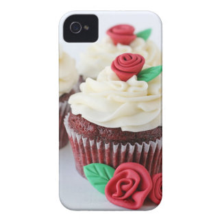 Red Velvet Cupcakes Roses iPhone 4 Case-Mate Cases