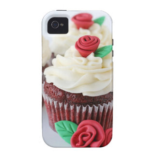 Red Velvet Cupcakes Roses Case For The iPhone 4