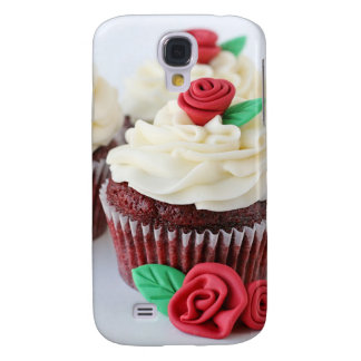 Red Velvet Cupcakes Roses Galaxy S4 Case
