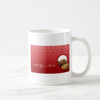 Red Velvet Damask Desserts Business Basic White Mug