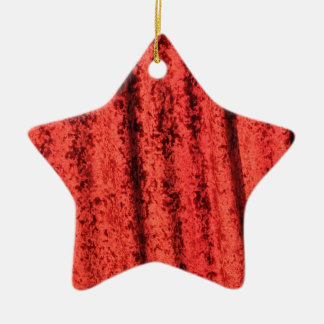 Red velvet design ceramic star decoration