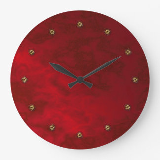 red velvet large clock