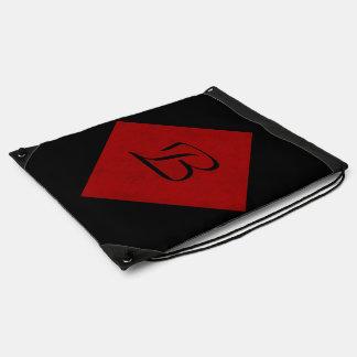 Red Velvet Personalized Home Casino Drawstring Backpacks