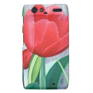 Red Velvet Tulip Motorola Droid RAZR Cover