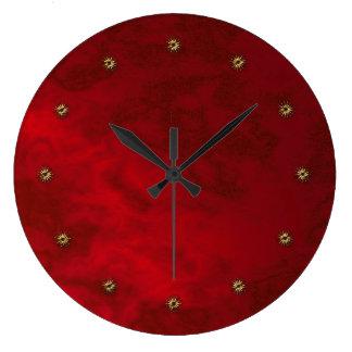red velvet wall clocks