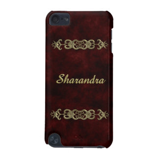 Red Velvet With Golden Ornament iPod Touch 5G Covers