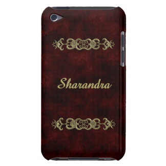 Red Velvet With Golden Ornament iPod Touch Case-Mate Case