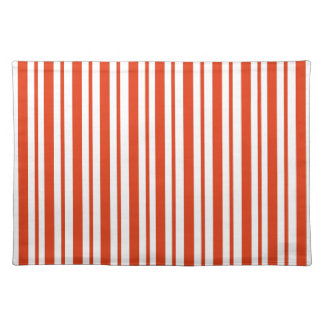 Red Verticall Pinstripe Placemat