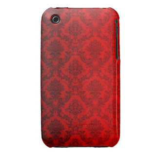Red Victorian Damask iPhone 3 Cover