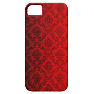 Red Victorian Damask iPhone 5 Covers