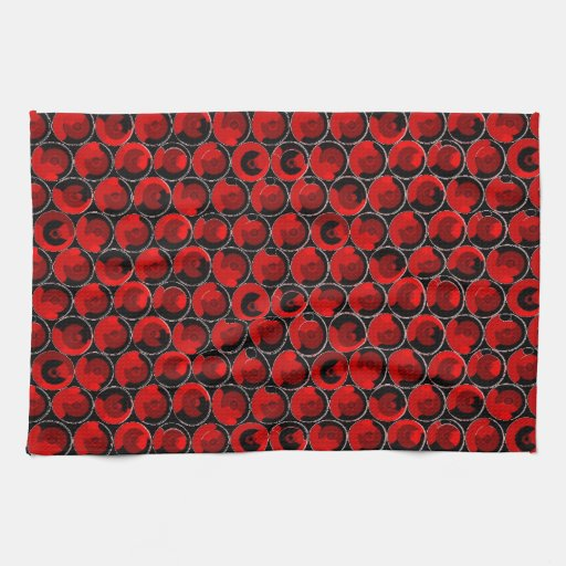Red Video Game Arcade Buttons Hand Towels