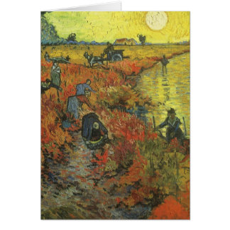 Red Vineyard by van Gogh Vintage Impressionism Art Card