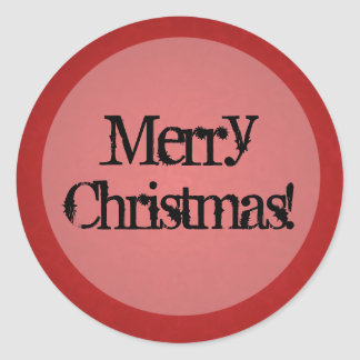 Red Vintage background Merry Christmas Stickers