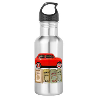 Red Vintage Car 532 Ml Water Bottle