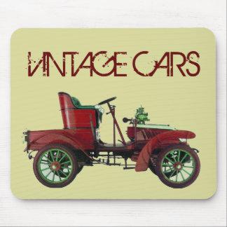 RED VINTAGE CAR,CLASSIC AUTOMOTIVE, Cream Mouse Mat
