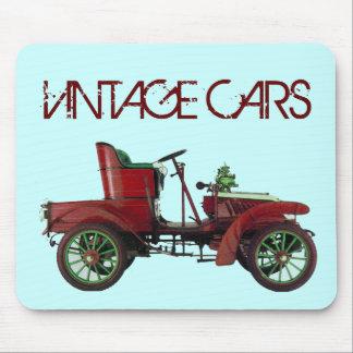 RED VINTAGE CAR,CLASSIC AUTOMOTIVE,Teal Blue Mouse Mat