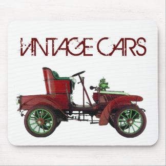 RED VINTAGE CAR,CLASSIC AUTOMOTIVE, White Mouse Mat