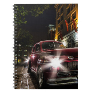 Red Vintage Car Notebook