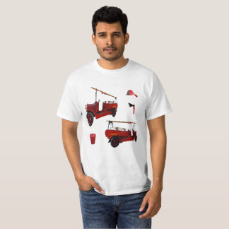 Red Vintage Fire Fighting Equipment, T-Shirt