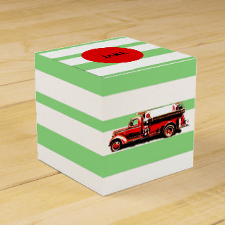 Red Vintage Fire Truck Favour Box