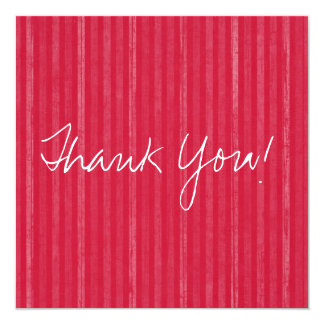 Red Vintage Flat Thank You Cards 13 Cm X 13 Cm Square Invitation Card