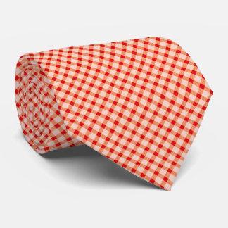 Red vintage gingham tie
