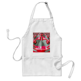 Red Vintage Hakuna Matata round Product Customize Standard Apron